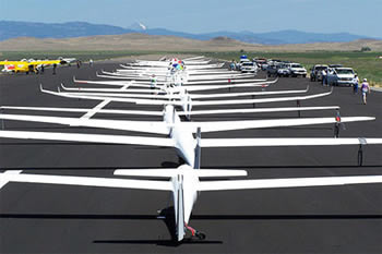 Gliders Grid to Start a Race