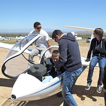 Everyone enjoys learning to fly at Southern California Soaring Academy