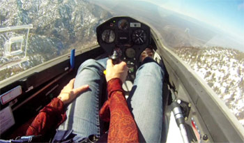 Marie taking Flight Training at Southern California Soaring Academy