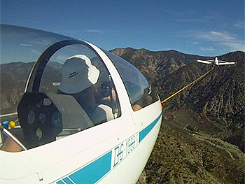 Jessica takes a Glider Ride at Southern California Soaring Academy